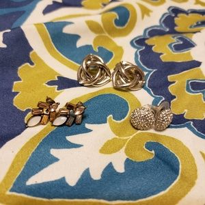 Three sets of earrings